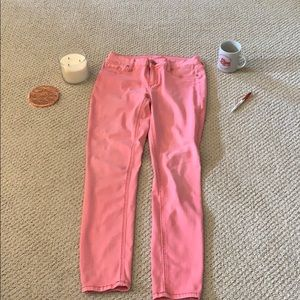 Faded red relaxed pants